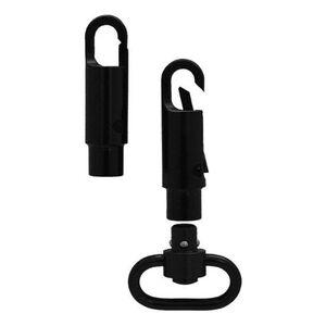 GrovTec Snap Hook Heavy Duty Push Button Swivel Adaptor Metal Black Finish GTSW269