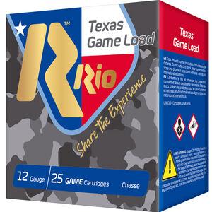 "RIO Ammunition Texas Game Load Standard Velocity 12 Gauge Ammunition 2-3/4"" Shell #7.5 Lead Shot 1-1/4oz 1250fps"