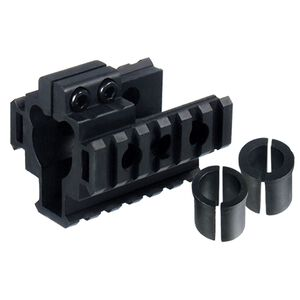 Leapers UTG AR-15 Tri-Rail Front Sight Barrel Mount Aluminum Black MNT-BR101TR-A
