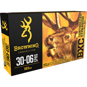 Browning BXC .30-06 Springfield Ammunition 200 Rounds BXC 185 Grains B192203081