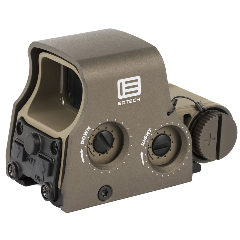 EOTech XPS2-2 Holographic Weapon Sight 65 MOA Circle and Two 1 MOA Dots Non Night Vision Compatible CR123 Battery Weaver/Picatinny Tan XPS2-2TAN