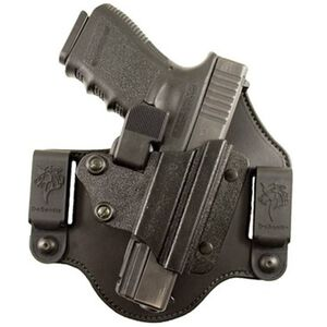 Desantis Prowler IWB/OWB Holster For GLOCK 9mm/.40 Right Hand Kydex/Leather Black 120KAB2Z0