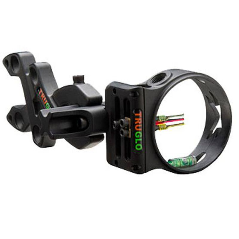 TRUGLO Storm 3 Pin Bow Sight Ambidextrous Aluminum Black TG3013B