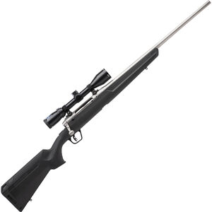 "Savage Axis II XP Stainless Package Bolt Action Rifle .243 Win 22"" Barrel 4 Rounds with 3-9x40 Scope Matte Stainless Finish"