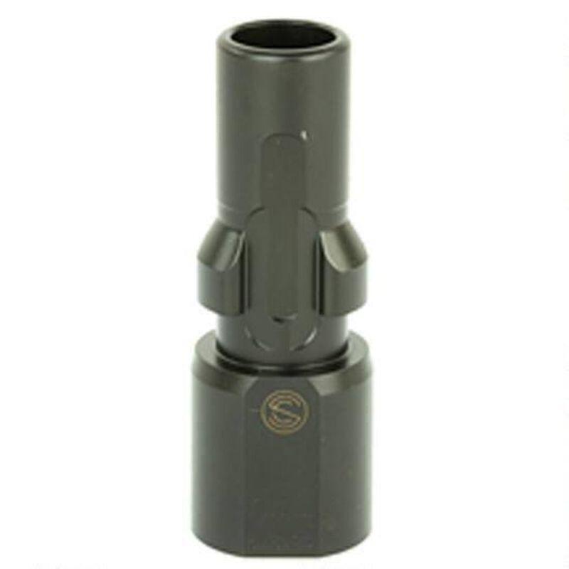 SilencerCo 3-Lug Muzzle Device 9mm Luger Threaded Metric 1/2x36 Steel Black