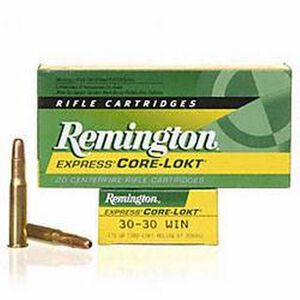Remington Express .30-30 Winchester Ammunition 20 Rounds 170 Grain Core-Lokt Hollow Point Projectile 2200fps
