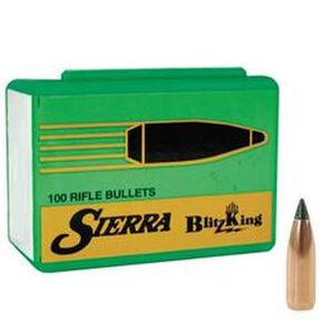 "Sierra .20 Caliber .204"" Diameter 39 Grain BlitzKing Polymer Tip Boat Tail Bullets 100 Count 1039"