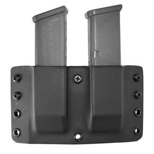 "Comp-Tac Twin Warrior Magazine Pouch IWB/OWB Belt Slide GLOCK 9mm/.40 S&W/.357 SIG/.45 GAP 1.5"" Belt Size 23 Ambidextrous Kydex Black"
