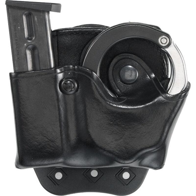 Aker Leather A508-BW-B 508 Black Basketweave Handcuff Case w//Brass Snap
