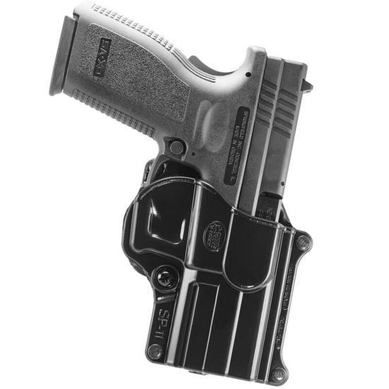 Fobus Holster Ruger H&K P2000/Springfield XD/Taurus PT111 Right Hand Belt Attachment Polymer Black