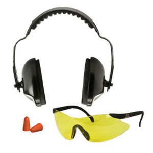 Walker EXT Safety Package EXT Earmuffs NRR 31db Ear plugs and ANSI Safety Glasses