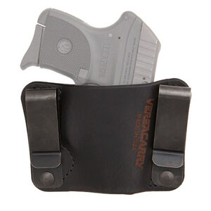 Versacarry Orion OWB/IWB Holster Ambidextrous Fits 1911 Models and Ruger LCP Leather Black