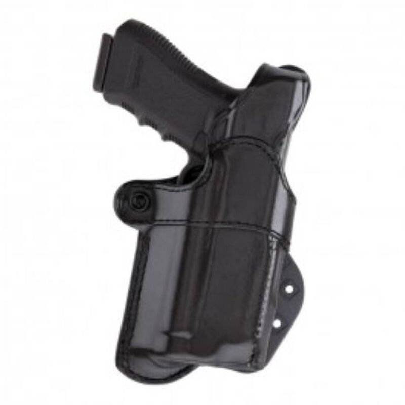 Aker Leather Nightguard Right Handed Paddle Holster Leather Black