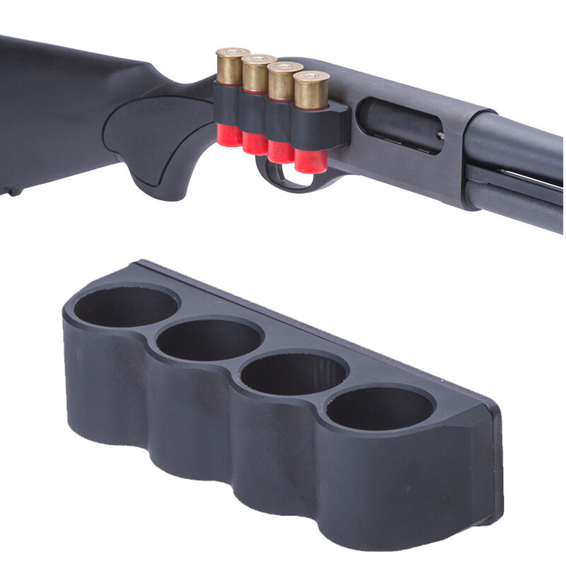 Mesa Tactical Sureshell Shotshell Carrier Right Side Remington 870 12 Gauge 4 Shell Carrier Black 90600