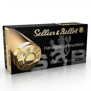Sellier & Bellot .40 Smith & Wesson Ammunition 50 Rounds 180 Grain Jacketed Hollow Point