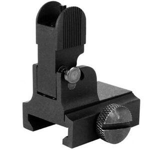 AIM Sports AR-15 Front Flip Up Sight Gas Block Height Aluminum Anodized Black MT034