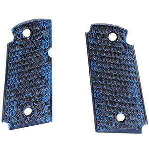 Hogue Kimber Micro 9 Ambidextrous Safety Grip Piranha G10 G-Mascus Blue Lava
