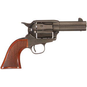 "Taylor's & Co The Runnin' Iron Black Rock .45 LC Single Action Revolver 3.5"" Barrel 6 Rounds Tuned Action Checkered Walnut Grips Black Nitride Finish"