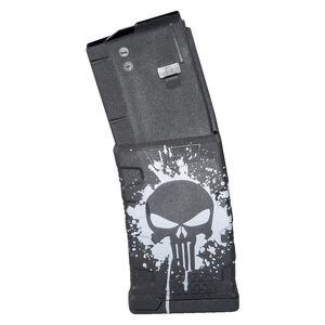 Mission First Tactical Extreme Duty AR-15 Magazine .223 Rem/5.56 NATO 30 Rounds Polymer Black with White Punisher Skull Splatter Logo