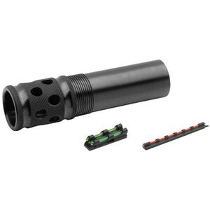 TRUGLO Winchoke/Invector 12 Gauge Gobble Stopper Extreme Extended Ported Turkey Choke Steel Blued with Gobble-Dot Dual Color Fiber Optic Sights Set TG172XC