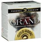 """Federal Gold Medal Grand Paper 12 Gauge Ammunition 25 Rounds 2-3/4"""" #7.5 Size 1-1/8oz Lead Shot 1200fps"""