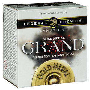 "Federal Gold Medal Grand Paper 12 Gauge Ammunition 25 Rounds 2-3/4"" #7.5 Size 1-1/8oz Lead Shot 1200fps"