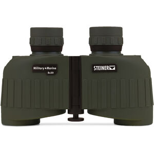 Steiner Military/Marine MM830 Binoculars 8x30mm Floating Prism System Makrolon Housing NBR Rubber Armor OD Green