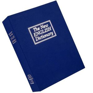 Bulldog Cases Deluxe English Dictionary Diversion Book Safe BLUE BD1180
