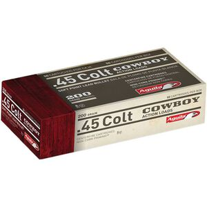 Aguila Cowboy Action .45 LC Ammunition 50 Rounds 200 Grain SP 600fps