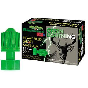 "Brenneke Green Lightning 12 Ga 2.75"" 1.25 oz Slug 5 Rounds"