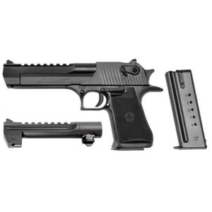 "Magnum Research Desert Eagle Mark XIX Semi Auto Pistol Combo, .50 AE/.44 Rem Mag, 6"" Barrel, 7/8 Round Magazines, Includes Replacement Barrel/Magazine, Black"