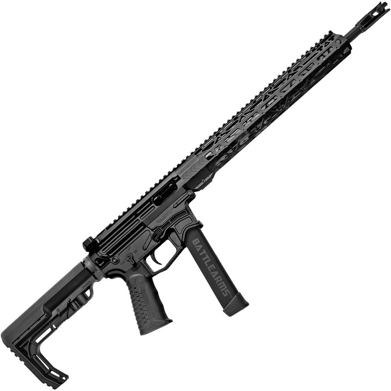 "BAD Battlearms BAD-GS-002 PCC 9mm Luger AR Style Semi Auto Rifle 16"" Barrel 33 Rounds Uses GLOCK Style Mags 15"" Freefloat M-LOK Handguard MFT Collapsible Stock Black Finish"