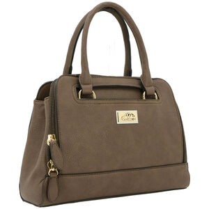 "Cameleon Belladonna Purse with Concealed Carry Gun Compartment 13""x10""x4"" Synthetic Leather Brown"
