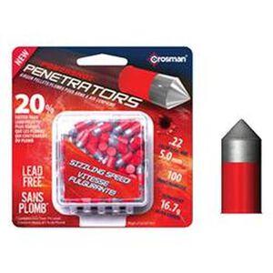Crosman Red Flight Penetrators Ammunition Lead Free .22 Caliber 16.7 Grains LF22167