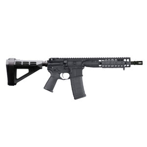 "LWRC DI 5.56 NATO AR-15 Semi Auto Pistol 10.5"" Barrel 10 Rounds Modular One Piece Free Float Rail System SB Tactical Pistol Brace Matte Black"