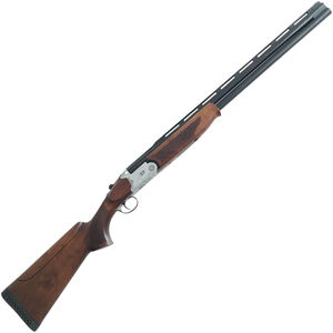 """RIA Imports Over Under Competition 12 Gauge O/U Break Action Shotgun 28"""" Vent Rib Double Barrel 2 Rounds 3"""" Chambers Walnut Stock Silver/Blued Finish"""