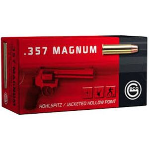GECO .357 Mag Ammunition 50 Rounds 158 Grain JHP 1296 fps 50 Round Box