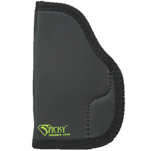"Sticky Holster LG-6 Short Modified For Light/Laser IWB Holster Ambidextrous Large Frame Semi Auto Pistols 3"" to 4"" Barrels Sticky Skin Material Matte Black Finish"