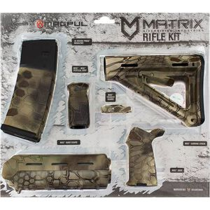 Matrix Diversified Industry AR-15 Magpul Furniture Kit Mil-Spec Polymer Highlander Camo Finish MAGMIL41HL
