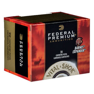 Federal Vital-Shok .460 S&W Magnum Ammunition 20 rounds 275 Grain Barnes Expander XPB Hollow Point Lead Free Bullet 1670fps