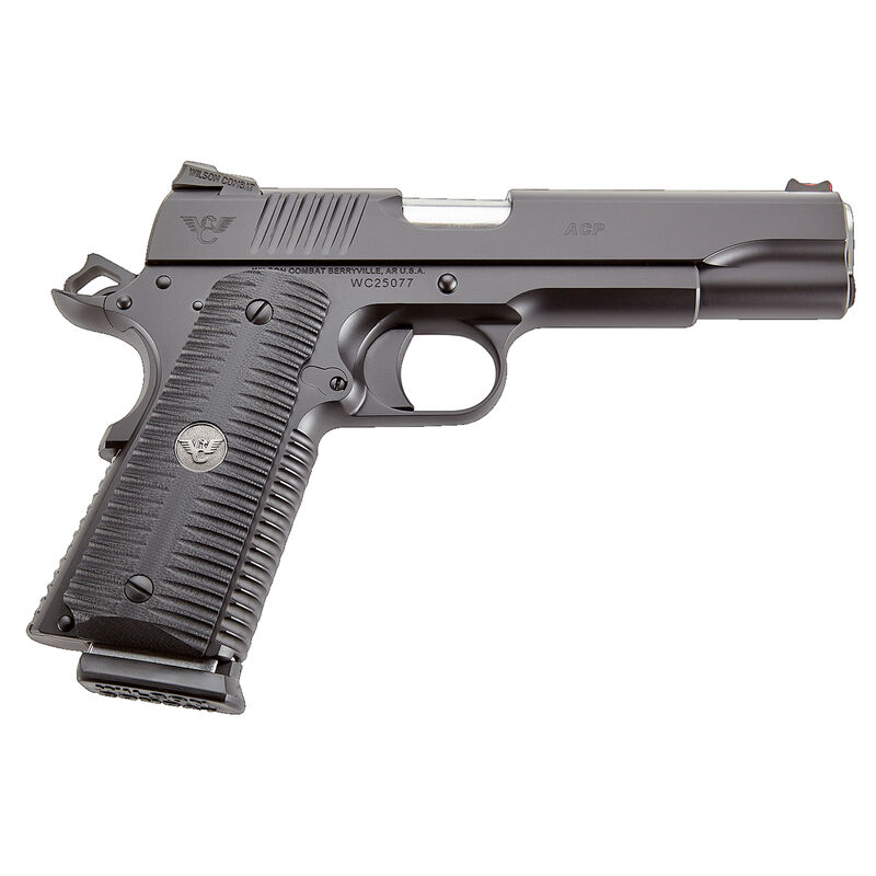 "Wilson Combat ACP Full Size 9mm Luger Semi Auto Pistol 5"" Barrel 10 Rounds G10 Eagle Claw Grip Carbon Steel Armor-Tuff Black Finish"