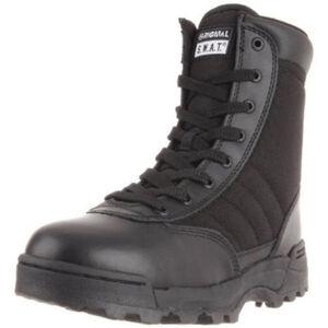 "Original S.W.A.T. Classic 9"" Side Zip Men's Boot Size 8.5 Wide Non-Marking Sole Leather/Nylon Black 115201W-85"