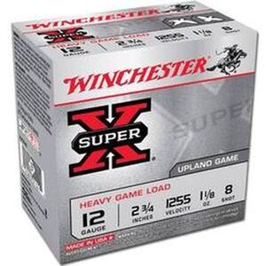 "Winchester Super X Heavy Game 12 Gauge Ammunition 25 Rounds 2.75"" #8 Lead 1.125 Ounce XU12H8"