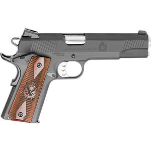 "Springfield 1911 Loaded Semi Auto Pistol 45 ACP 5"" Barrel 7 Rounds Wood Grips Parkerized"
