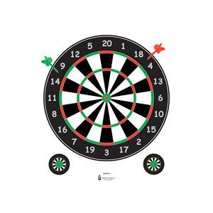 "Action Target Dart Board Paper Target 20""x24"" 100 Count"