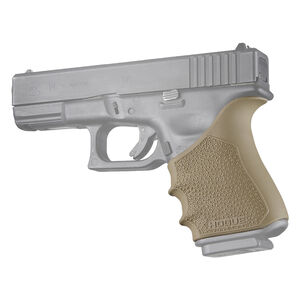Hogue HandAll Beavertail Grip Sleeve Fits Glock 19/23/32/38 Gen 3-4 FDE
