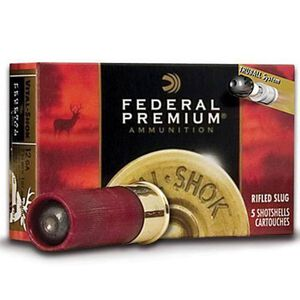 "Federal Vital-Shok 12 Gauge Ammunition 5 Rounds 2.75"" 1oz. HP Slug 1,600 Feet Per Second"