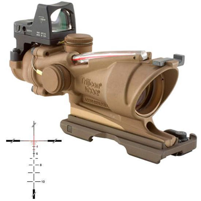 Trijicon ACOG 4x32 Red BDC Reticle with 3.25 MOA RMR Sight FDE TA31ECOS