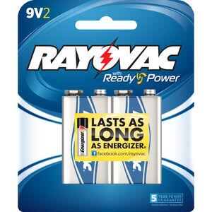 Rayovac 9V Alkaline Batteries 2-Pack