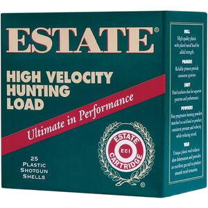"""Estate Cartridge High Velocity Magnum Steel Load 12 Gauge Ammunition 3"""" Shell #4 Steel Shot 1-1/8oz 1500fps"""